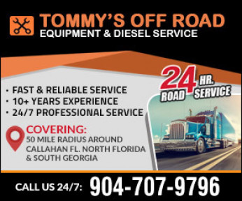 Tommy's Off Road Equipment and Diesel Service Logo
