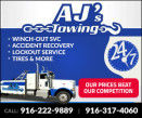AJ'S TOWING - HEAVY DUTY TOWING & RECOVERY Logo