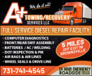 A+ TOWING and RECOVERY LLC. - MOBILE REPAIR logo