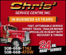 Chris' Service Center, Inc. logo