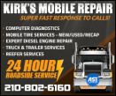 Kirk's Mobile Repair LLC. 210-802-6160 logo