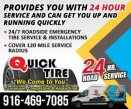 QUICK MOBILE TIRE & ROAD SERVICE logo