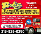 ROB'S TOWING & HAULING - ROAD SERVICE logo